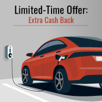 Limited Time Offer: Get Extra Cash Back on All-Electric Vehicles and Chargers logo