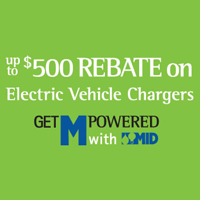 Up to $500 Rebate on Level 2 Electric Vehicle Chargers logo