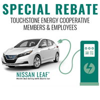 $3,500 Rebate on NISSAN LEAF - Limited time offer logo