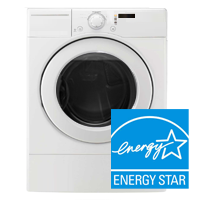 ENERGY STAR® Certified Clothes Washer - Spend about 25% less to clean clothes! logo