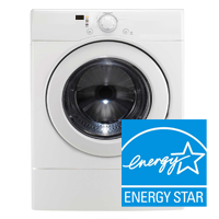 ENERGY STAR® Certified Electric Clothes Dryer – Spend 20% less to dry your clothes logo